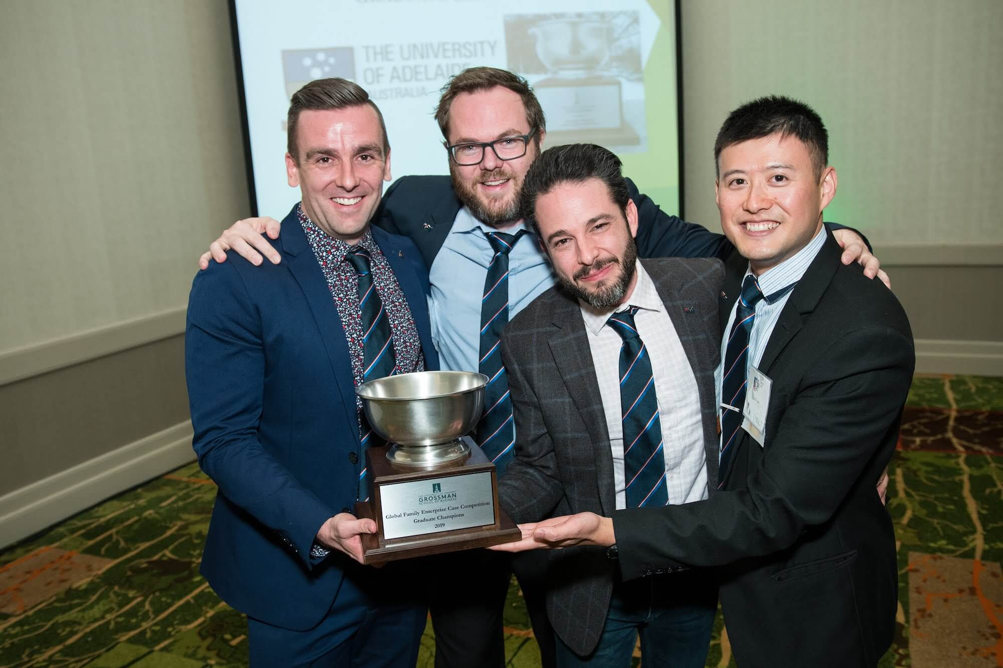 Winners of UVM's Family Business Case Competition 2019